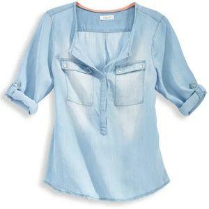 Taylor and Sage | Chambray Tencel Shirt M